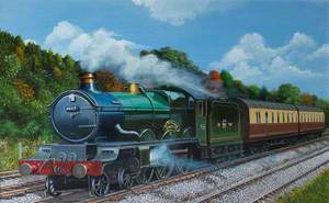 The Great Western Railway, Castle Class Locomotive, named 'The South Wales Borderers'