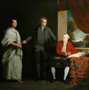 Omai (c.1753–c.1776/1777), Sir Joseph Banks (1743–1820), and Dr Daniel Solander (1736–1782)