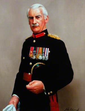 Brigadier J. B. Oldfield, OBE, Colonel of the Regiment (1975–1982)