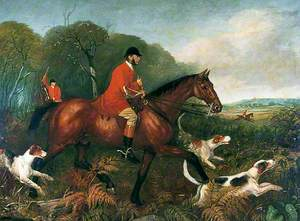 Memorial Painting of Sir Charles Slingsby, Bt Who Died in a Hunting Accident in 1869 When the Ferry Overturned on the River Ure near Newby Hall