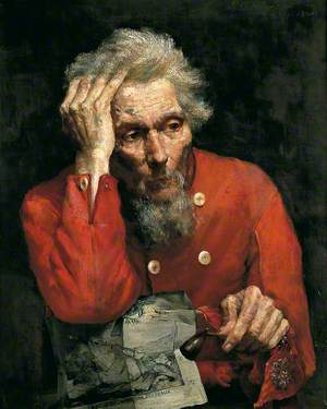 Portrait of an Old Man in a Scarlet Tunic