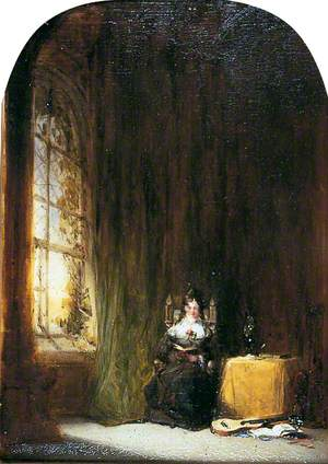 Woman Reading in an Interior