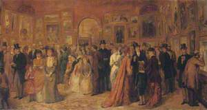 Study for the Private View, 1881