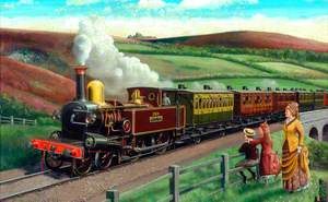 London and South Western Railway 4–4–0 Beattie Tank Locomotive