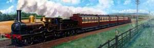 Travel in 1890 (West Lancashire Railway Locomotive 'Blackburn')