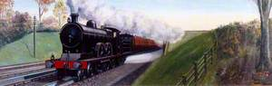 Travel in 1900 (Lancashire and Yorkshire Railway Express Picking Up Water)