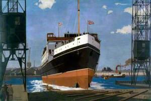 Launch of 'TSS Duke of York', Queen's Island, Belfast