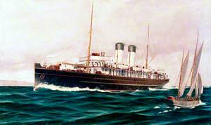 South Eastern and Chatham Railway Turbine Steamer 'The Queen'
