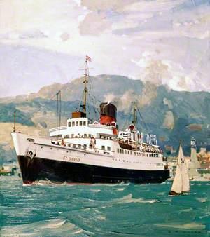 Fishguard-Rosslare with Ferry 'TSS St David'
