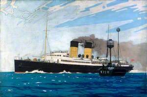 Steamer Passing Kish Lightship between Dublin and Holyhead