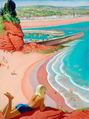 Coast and Beach at Dawlish