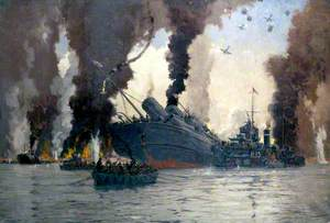 Sinking of the London, Midland and Scottish Railway Steamer SS 'Scotia' off Dunkirk
