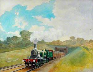 Great Northern Railway Express Hauled by 4–2–2 Locomotive No. 1007