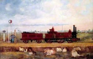 London and South Western Railway Beattie 'Saxon' Class 2–4–0 Locomotive No. 126 'Dane'
