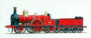 London and North Western Railway 'Extra Large Bloomer' 2–2–2 Locomotive No. 372