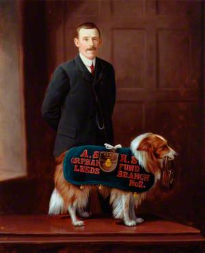 'Carlo', Railway Collecting Dog for the Amalgamated Society of Railway Servants Orphan Fund