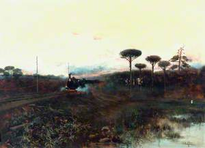 Train in a Spanish Landscape