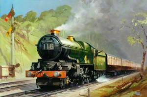 'The Bristolian', Hauled by King Class 4–6–2 Locomotive in Twyford Cutting