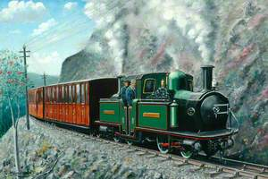 Fairlie Locomotive on Ffestiniog Railway