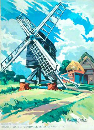 Cambridgeshire, Bourn Mill, the Oldest Dated Windmill in England