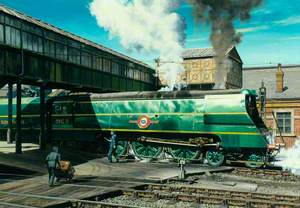 Southern Railway Merchant Navy Class 'Union Castle' at Salisbury Station
