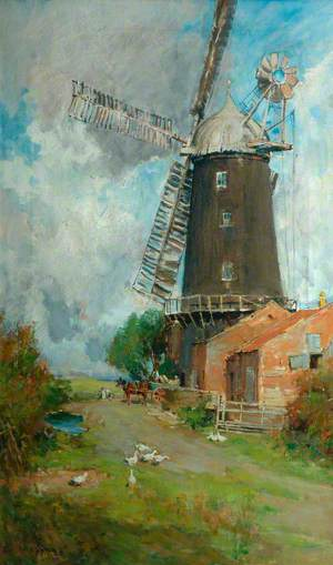 Farmyard and Windmill