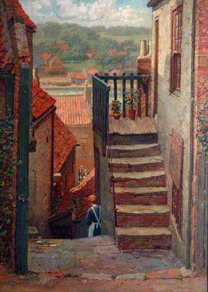 Whitby, View of a Backstreet