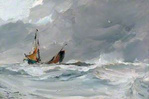 Sailing Ships in a Storm