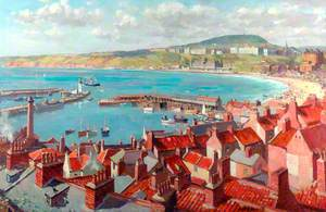 Scarborough from Castle Dykes
