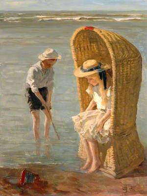 Two Children at the Seaside