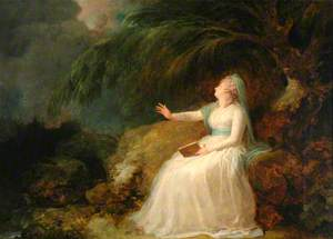Mrs Siddons Reading in a Grotto