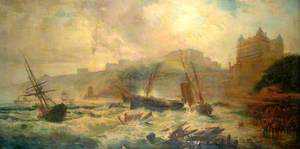 Terrific Gale in the South Bay, 1860