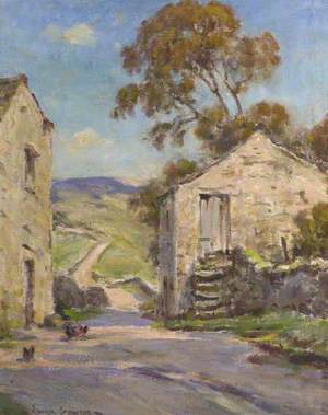 Village Lane with Chickens; Beckermonds, Upper Wharfedale