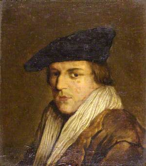 A Youth in Brown Coat with Black Hat