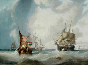 A Dutch Pinck and Other Vessels