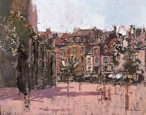 The Rue de la Boucherie with the Church of St Jacques, Dieppe