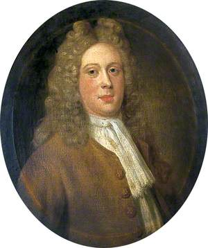 Portrait of an Unknown Man in a Brown Coat and Light Wig