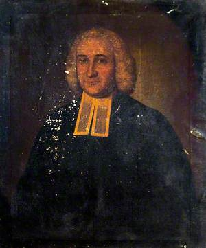 Portrait of an Unknown Seated Divine in Gown and Bands