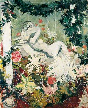 Nude with Flowers (Girl in a Glasshouse)
