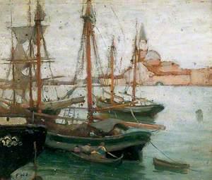 Ships in Venice