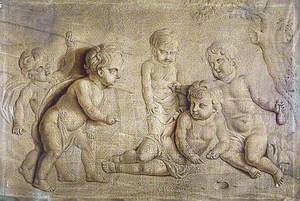 Bas-Relief of Five Putti