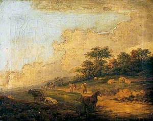 Landscape with Figures and Horse