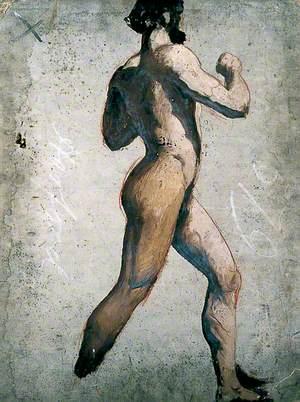 Male Nude Walking