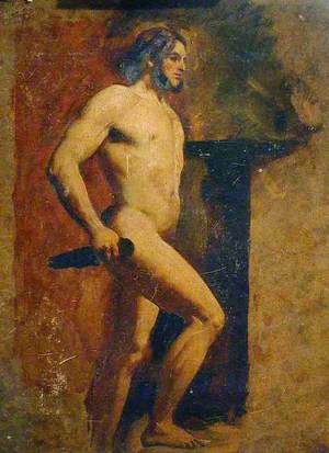 Male Nude with Dagger