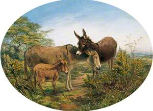 Scene on a Common with Two Donkeys