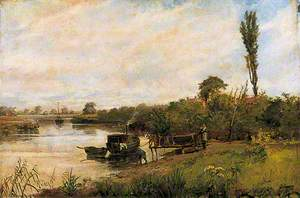 River Scene with Jetty