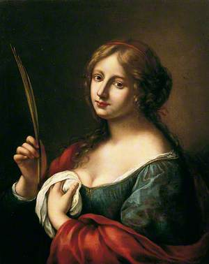 Portrait of a Young Lady Holding a Quill