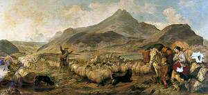 Drovers in Glen Sligachan, Isle of Skye