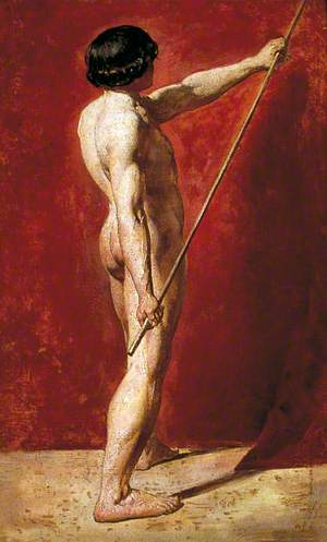 Male Nude with Staff