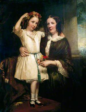 A Mother with Her Young Daughter